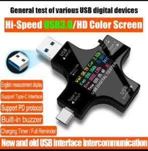 USB 3,0 тип-c USB Тестер